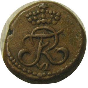 elf India Danish Tranquebar 4 Cash 1816  Frederick VI