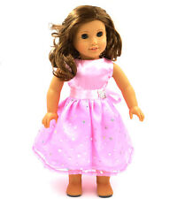 unique  fashion  pink clothes dress for 18inch American girl doll party b11