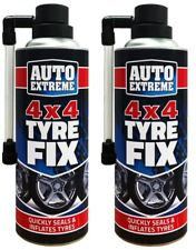 2x LARGE QUICK FIX CAR EMERGENCY FLAT TYRE INFLATE PUNCTURE REPAIR KIT - 4X4