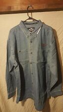 Harley Davidson Men's Long Sleeve Denim Shirt 99010-11VM Jean  NWOT Large L