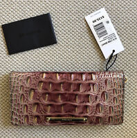 $125 Brahmin ADY Wallet GARNET OMBRÉ Melbourne Bi-Fold Genuine Leather NWT!