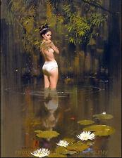"Nude Woman in Water 8.5x11"" Photo Print Robert McGinnis Paperback Cover Art"