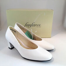 "Fanfare Womens Shoes sz 6M Style Christy White Pumps 2"" Heel Wedding Bridesmaid"