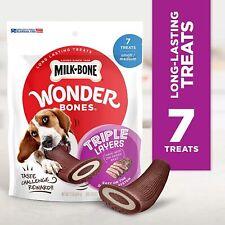 New listing Milk Bone Wonder Bones Triple Layers Dog Treats Long Lasting