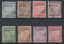 French Andorra - 1931/2, 5c - 3f Postage Due set - F/U - SG FD24/31