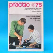 DDR practic 4/1975 Zeichengerät Außenfilter Teppichknüpfen Klebepistole Moped E