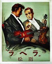Original vintage poster VIOLIN&CELLO HARS MUSICIANS c.1925