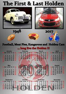 Holden Cars Memorabilia Calendar For 2021