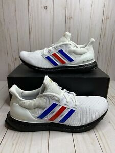 Adidas UltraBoost 2.0 USA Mens Size 12 Cloud White Blue Red FY9049 Lightweight