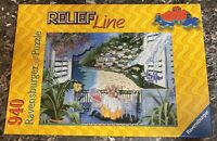 """Ravensburger 940 Piece Jigsaw Puzzle """"Summer Breeze"""" Relief Line No 16 1638 Used"""