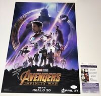 AVENGERS INFINITY WAR Cast X4 Signed 12x18 Photo IN PERSON Autograph JSA COA