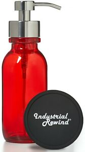 Red Soap Dispenser - 16oz Red Glass Bottle for Foaming Soap Dish Soap Holder