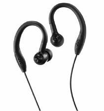JVC Black Sports Sweat Proof Secure Fit Earhook Stereo 3 Size Earbuds 10-20K Hz
