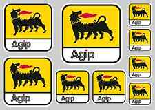 AGIP STICKER SET - SHEET OF 9 STICKERS - DECALS
