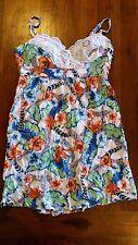Crossroads tropical print dress with crochet detail sz14 BNWOT free post E9