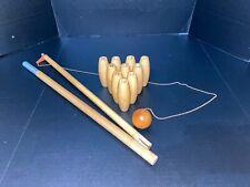 Original Vintage Skittle Bowling Parts Ball And Pins