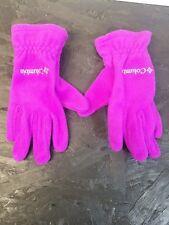 Columbia Girl's Gloves Purple Size Medium Warm Gloves Euc #18