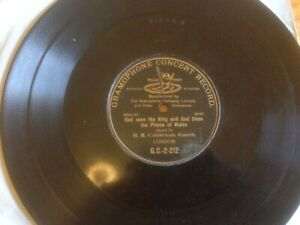 Gramophone Concert Record God Save The King  / God Bless The Prince of Wales