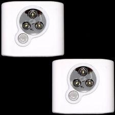 2x Luci lampade solare 3 LED sensore movimento guardaroba armadio 3LDM