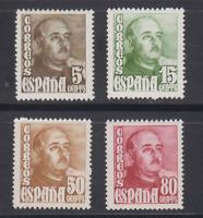 ESPAÑA (1948) NUEVO SIN FIJASELLOS MNH - EDIFIL 1020/23 FRANCO - LOTE 3