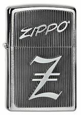 ZIPPO Feuerzeug ZIPPO - Z - m. Emblem Brushed Chrome Katalog 2015 Logo NEU OVP