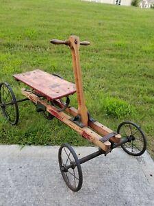 Antique Irish Mail Cart pedal car.