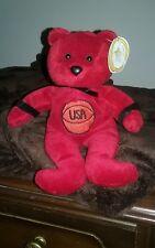 Jc Bears Celebrity Bears Beanie Bear #9 Red with Basketball 12/5/98
