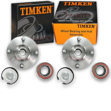 Timken Front Wheel Bearing & Hub Assembly for 2000-2011 Ford Focus Pair Left jt