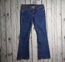 True Religion Joey Womens Jeans Size 28 x 26 Flare Denim Light Horseshoe