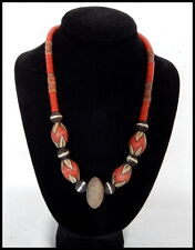 Vintage hand-made trade bead necklace