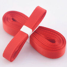 "Red 5yds 3/8"" (10 mm)Solid Christmas Grosgrain Ribbon Hair Bows Ribbion"