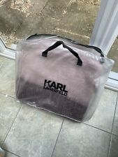 Karl Lagerfeld Bed Throw. Brushed Rose. Mauve.