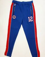 Post Game 100% AUTHENTIC mens LARGE red/royal blue #12 jogger pants
