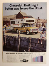 1972 Chevy Pickup Truck Ad - Must See !!