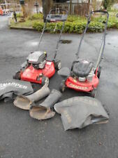 (2)Parts or Repair Snapper 6.5hp Lawn Mowers with Attachments and Bags