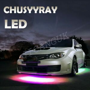 4in1 36LED RGB Car Atmosphere Light Kit Strip Bar static color control Music USA