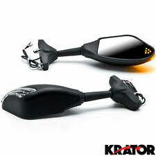 Black Mirrors w/ Turn Signals For Honda CB 250 450 650 700 750 Nighthawk