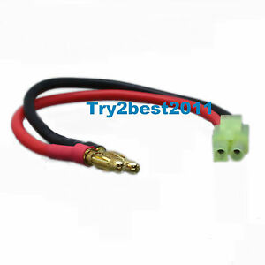 Battery Charger Charging Leads: TAMIYA MINI Male to 4mm Bullet Banana AR Drone
