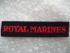 Patches- ROYAL MARINES Shoulder Title Patch (New*, 11x2.2 cm)