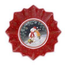 Villeroy & Boch TOY'S FANTASY Small Bowl:  Building a Snowman # 3887