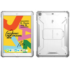 For  Apple iPad 10.2 2019 | [Screen Shield] Shockproof Hard Cover Case White