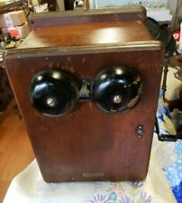 Antique Western Electric  Telephone Call Box  Circa  1890-1920's Free Ship! 2