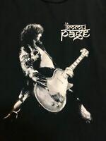 Vintage T-shirt Rock n Roll Led Zeppelin Jimmy Page XL Men's Black 100% cotton
