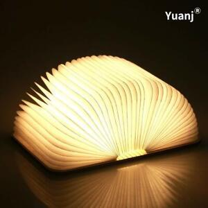 Livre lampe  Décoration pliante, rechargeable par USB, lumière LED magnétique