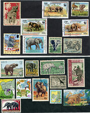 THEMATIC USED STAMPS * 20 PCS ELEPHANTS # 474