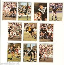 1983 RUGBY LEAGUE STICKERS - WESTERN SUBURBS MAGPIES