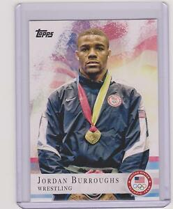 2012 TOPPS OLYMPIC JORDAN BURROUGHS BASE WRESTLING CARD #85 ~ MULTIPLES