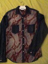 magnifique chemise pour homme - zara - impression cachemire - produit comme neuf
