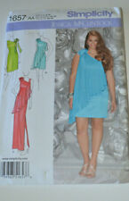 sewing pattern dress with drape & foral or tie