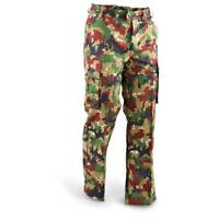 Original Swiss army pants M83 combat Alpenflage Camo field trousers Switzerland